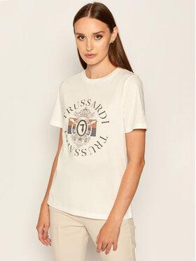 Trussardi Jeans Trussardi Jeans T-Shirt Pure 56T00304 Biały Regular Fit