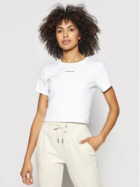 Calvin Klein Jeans Calvin Klein Jeans Marškinėliai J20J215699 Balta Regular Fit