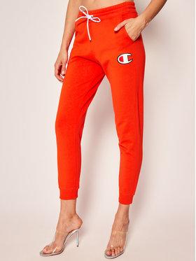 Champion Champion Teplákové kalhoty C Logo Ribbed Cuffed 112645 Oranžová Custom Fit