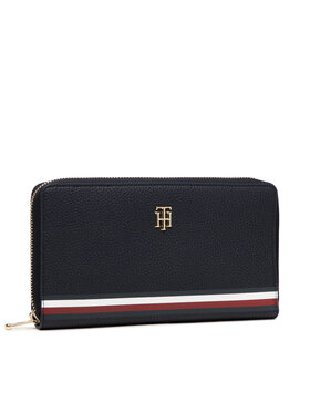 Tommy Hilfiger Tommy Hilfiger Portofel Mare de Damă Th Element All In I Wallet Corp AW0AW10537 Bleumarin