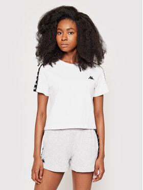 Kappa Kappa T-Shirt Inula 309090 Bílá Regular Fit