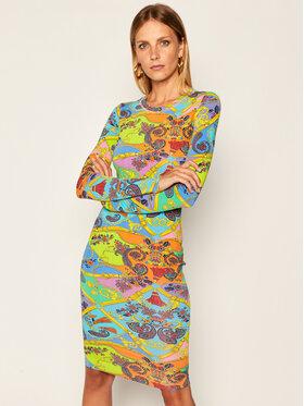 Versace Jeans Couture Versace Jeans Couture Sukienka codzienna D2HZA431 Kolorowy Slim Fit