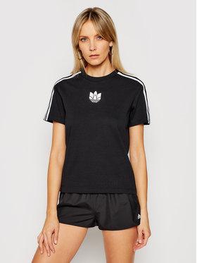 adidas adidas T-Shirt adicolor 3D Treofil GN2930 Μαύρο Loose Fit