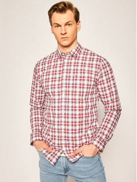 Tommy Jeans Tommy Jeans Koszula Essential Check Pocket DM0DM08103 Bordowy Regular Fit