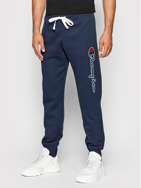 Champion Champion Sportinės kelnės Blend Vertical Script Logo 216472 Tamsiai mėlyna Regular Fit