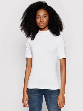 Calvin Klein Jeans Calvin Klein Jeans Тишърт J20J216344 Бял Slim Fit