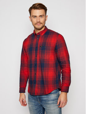 Lee Lee Camicia Riveted L66INNOE Rosso Relaxed Fit