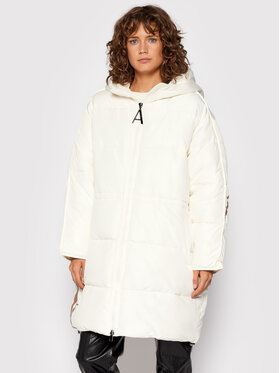 TWINSET TWINSET Daunenjacke 212AT2040 Weiß Relaxed Fit