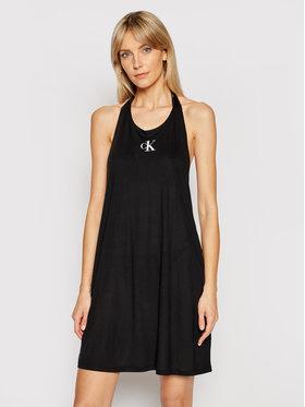 Calvin Klein Swimwear Calvin Klein Swimwear Plážové šaty KW0KW01408 Čierna Regular Fit