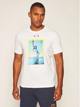 Armani Exchange Armani Exchange T-Shirt 6HZTEE ZJ3DZ 1100 Weiß Regular Fit