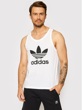 adidas adidas Tank top marškinėliai adicolor Classics Trefoil H06636 Balta Regular Fit