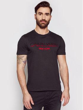 Calvin Klein Calvin Klein T-shirt Tone On Tone Logo K10K106711 Crna Regular Fit