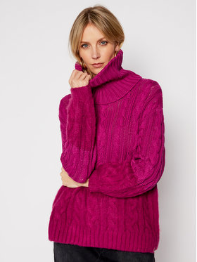 One Teaspoon One Teaspoon Bluză cu gât Buckingham 23645 Violet Regular Fit