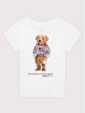 Polo Ralph Lauren Polo Ralph Lauren Тишърт Bear 211843288001 Бял Regular Fit