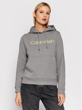 Calvin Klein Calvin Klein Majica dugih rukava Core Logo K20K202687 Siva Regular Fit