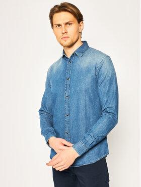 Emporio Armani Emporio Armani Marškiniai 3H1C67 1DC3Z 0942 Tamsiai mėlyna Slim Fit