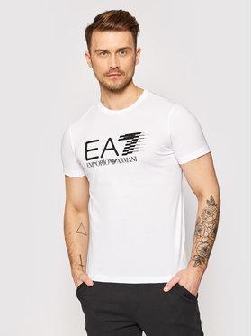 EA7 Emporio Armani EA7 Emporio Armani Tričko 3KPT39 PJ02Z 1100 Biela Regular Fit