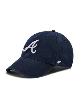 47 Brand 47 Brand Czapka z daszkiem Brand Atlanta Braves B-RGW01GWS-RA Granatowy