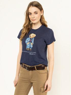 Polo Ralph Lauren Polo Ralph Lauren T-Shirt Bear 211785567 Niebieski Regular Fit