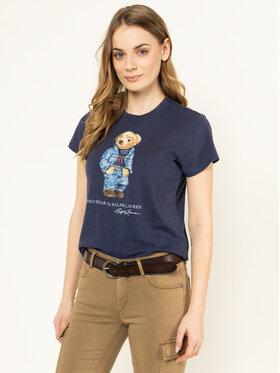 Polo Ralph Lauren Polo Ralph Lauren Tricou Bear 211785567 Albastru Regular Fit