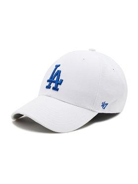 47 Brand 47 Brand Шапка с козирка Los Angeles Dodgers B-MVP12WBV-WHC Бял