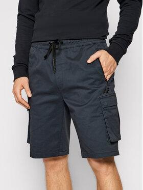 4F 4F Bavlnené šortky H4L21-SKMC010 Tmavomodrá Regular Fit