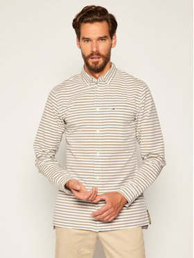 Tommy Jeans Tommy Jeans Košile Tjm Horizontal Stripe DM0DM07919 Zelená Regular Fit
