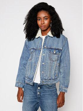 Superdry Superdry Giacca di jeans Boyfriend Sherpa W5010249A Blu Regular Fit