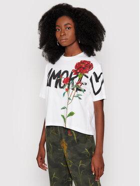 Desigual Desigual T-Shirt Celidonia 21WWTKA0 Bílá Regular Fit