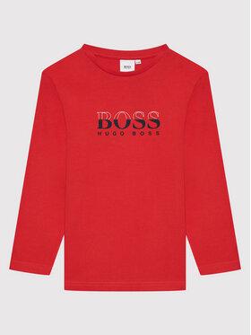 Boss Boss Bluzka J25L63 S Czerwony Regular Fit