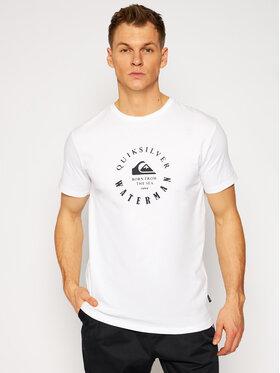 Quiksilver Quiksilver T-Shirt Little Marks EQMZT03208 Bílá Regular Fit