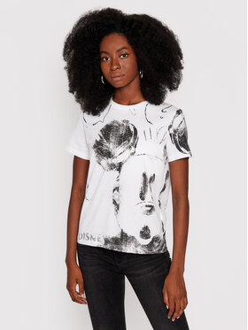 Desigual Desigual T-shirt DISNEY Mickey 21WWTKB3 Bijela Regular Fit