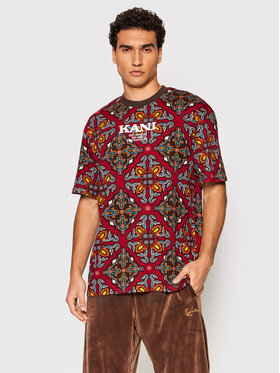 Karl Kani Karl Kani T-Shirt Retro Ornamental 6030942 Czerwony Regular Fit