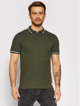 Only & Sons Only & Sons Тениска с яка и копчета Cilas 22013661 Зелен Regular Fit