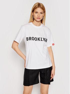 Victoria Victoria Beckham Victoria Victoria Beckham T-shirt Brooklyn 2221JTS002511A Bijela Regular Fit