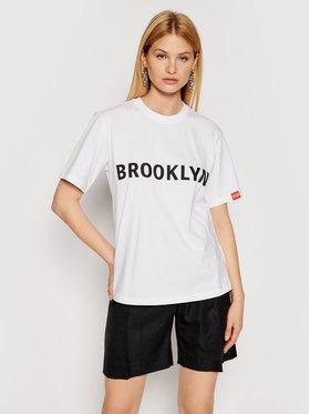 Victoria Victoria Beckham Victoria Victoria Beckham Tricou Brooklyn 2221JTS002511A Alb Regular Fit