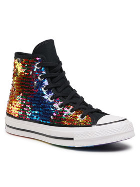 Converse Converse Sneakers aus Stoff Chuck 70 Hi 167755C Silberfarben