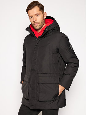 Calvin Klein Jeans Calvin Klein Jeans Parka Fake Down Technical J30J316614 Čierna Regular Fit