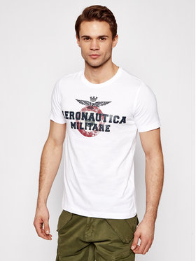 Aeronautica Militare Aeronautica Militare Marškinėliai 211TS1843J511 Balta Regular Fit