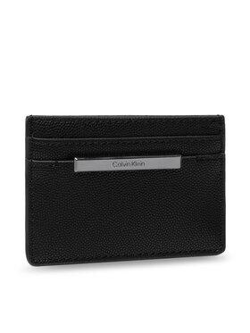 Calvin Klein Calvin Klein Etui na karty kredytowe Focused Cardholder Kaviar K60K608609 Czarny