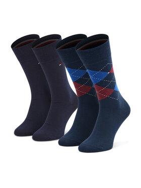 Tommy Hilfiger Tommy Hilfiger Súprava 2 párov vysokých pánskych ponožiek 100001495 Tmavomodrá