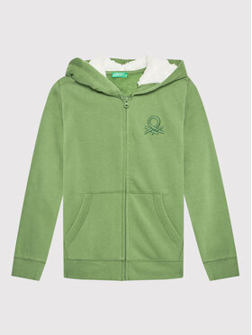 United Colors Of Benetton United Colors Of Benetton Суитшърт 3EB5C5829 Зелен Regular Fit