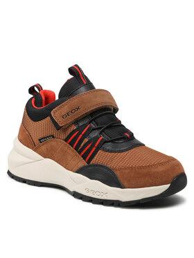 Geox Geox Sneakersy J Heevok B.B Abx A J16FBA 0FU22 C6N7V S Brązowy