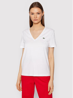 Lacoste Lacoste Футболка TF8392 Білий Relaxed Fit