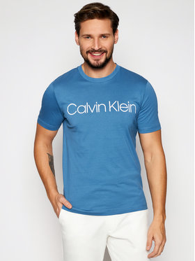 Calvin Klein Calvin Klein T-Shirt Front Logo K10K103078 Modrá Regular Fit