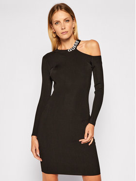 Guess Guess Φόρεμα υφασμάτινο Carol W0BK1H Z2G50 Μαύρο Slim Fit