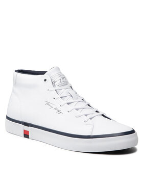 Tommy Hilfiger Tommy Hilfiger Sneakers Corporate High Modern Vulc Lea FM0FM03740 Blanc
