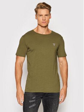 Guess Guess T-Shirt U94M09 K6YW1 Zelená Regular Fit