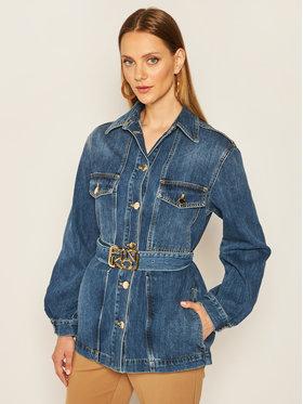 Pinko Pinko Kurtka jeansowa Connie Al 20-21 PDEN 1J10HK Y649 Granatowy Regular Fit