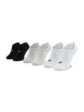 4F 4F Σετ 3 ζευγάρια κάλτσες σοσόνια γυναικεία H4L21 SOD007 Λευκό
